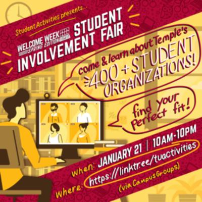 Student Involvement Fair graphic